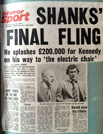 Shanks' final fling - Daily Mirror 13 July 1974