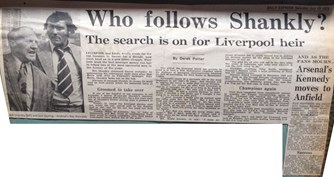 Who follows Shankly? - Daily Express 13 July 1974