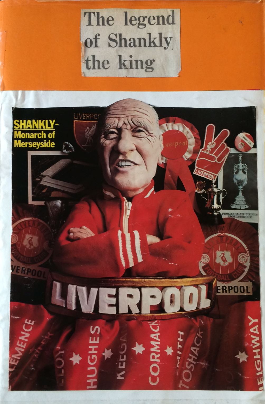 Front of Bill Shankly scrapbook