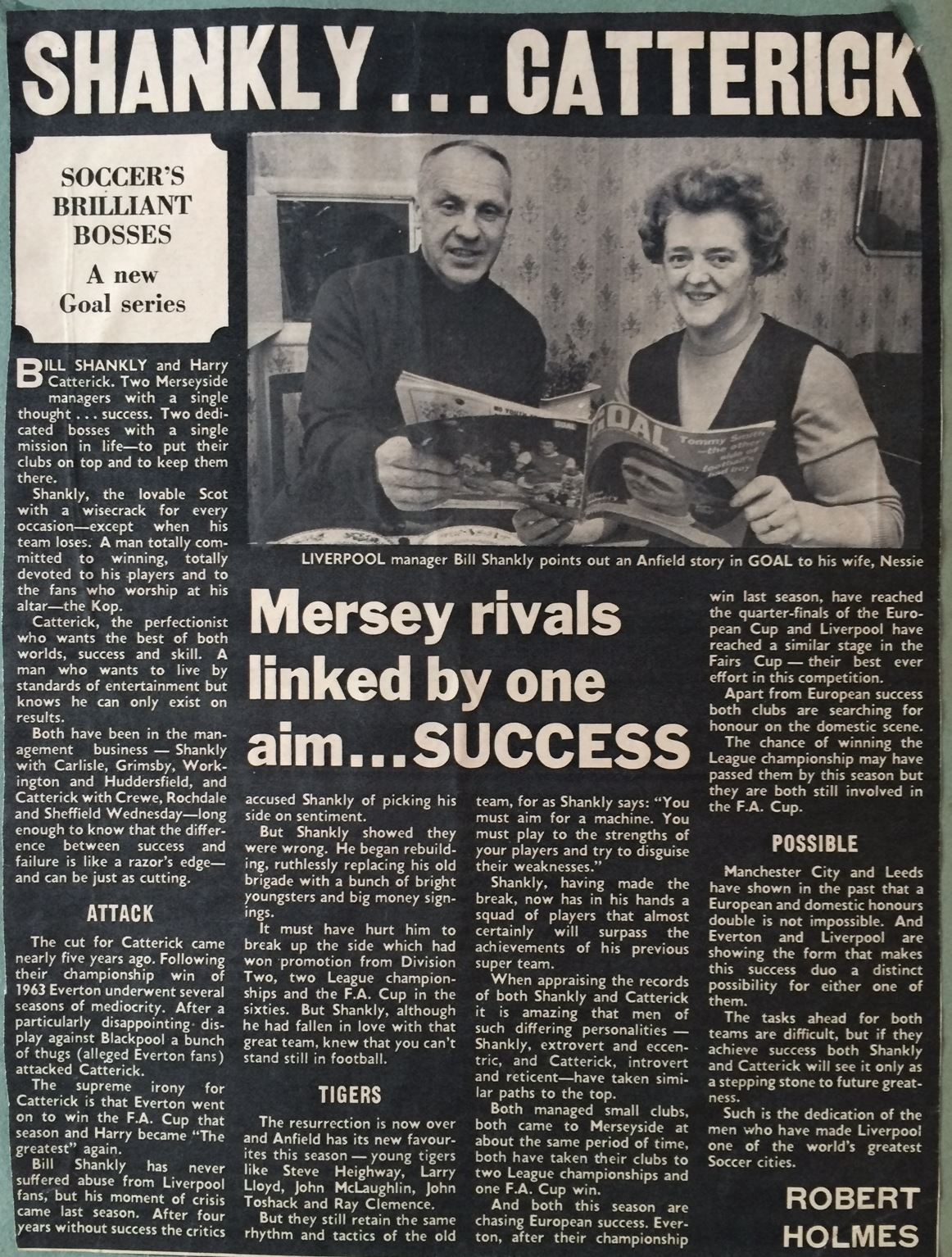 Shankly and Catterick are Soccer's superb bosses - 1971