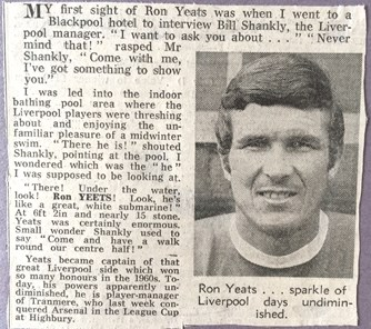 Look at Yeats, Shankly demands