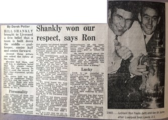 Shankly won our respect -1974