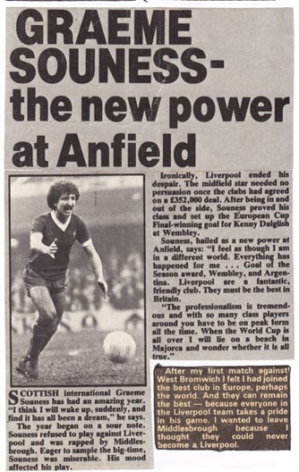 Souness the new power at Anfield - May 1978