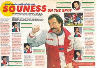 Souness answers questions from Shoot! readers